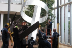 mark di suvero deinstall at the morgan library 021