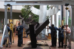 mark di suvero deinstall at the morgan library 026